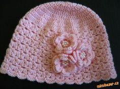 hezký vzorek, česky Easy Crochet Hat, Crochet Winter, Crochet Baby Hats, Crochet For Kids, Knitted Hats, Knit Crochet, Yarn Over, Beanie Hats, Crochet Projects