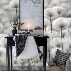 Fototapete im Arbeitszimmer - eine tolle Alternative für die Wandgestaltung! #roomido #eames #interior Mehr auf roomido.com
