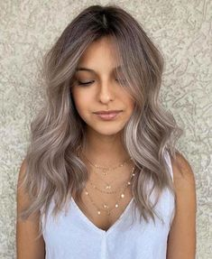 Hair Color Streaks, Hair Color Purple, Hair Color Balayage, Honey Balayage, Hair Highlights, Cool Tone Hair Colors, Cool Hair Color, Cool Tones, Hair Color Ideas