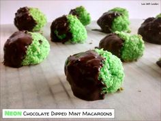 Neon Chocolate Dipped Mint Macaroons (1)