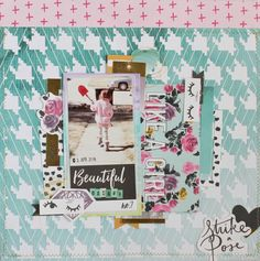 The September Gossamer Blue kits include some really fabulous items from We R Memory Keepers. I think the bright, bold colors are so refres. My Scrapbook, Scrapbook Layouts, Scrapbooking, Gossamer Blue, We R Memory Keepers, Girls Be Like, Tgirls, Bold Colors, Paper Crafts