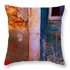 Throw Pillow featuring the photograph Abandoned 03 by Dora Hathazi Mendes #pillow #homedecor #dorahathazi