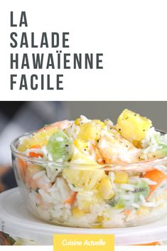 Salade hawaienne - Recettes - The Best Mexican Recipes Fruit Recipes, Cooking Recipes, Healthy Recipes, Dessert Recipes, Best Mexican Recipes, Ethnic Recipes, Hawaiian Salad, Chicken Caesar Pasta Salad, Stuffing Recipes