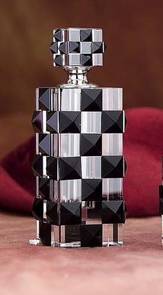 Checkerboard Perfume Bottle