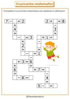 it wp-content uploads 2016 07 Crossword-Mathematical-Addition-Sub Mental Maths Worksheets, Maths Puzzles, Worksheets For Kids, Math Activities, Math Classroom, Kindergarten Math, Teaching Math, Math For Kids, Fun Math