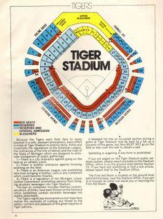 Layout of Tiger Stadium, Detroit, Michigan Espn Baseball, Wsu Basketball, Baseball Helmet, Baseball Park, Detroit Tigers Baseball, Baseball Uniforms, Baseball Field, Detroit Michigan, Baseball Shoes