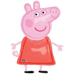 Peppa Pig Airwalker Balloon from Wholesale Party Supplies is the perfect way to put the finishing touches on your Peppa Pig birthday party! Peppa Pig Balloons, Airwalker Balloons, Party Girlande, Bargain Balloons, Wholesale Balloons, Pig Birthday, Birthday Ideas, Happy Birthday, Piglets