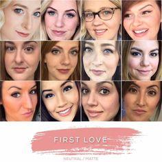 LipSense Color Collage: First Love LipSense // SeneGence independent distributor #237343