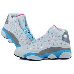 Women Air Jordan 13 GS Miami Vice featuring polyvore fashion shoes jordan hologram shoes holographic shoes print shoes patterned shoes