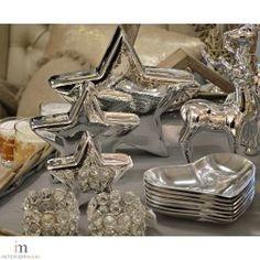 Sølvstjerner i str. liten, medium og stor