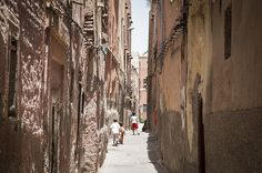 Marrakech, Morocco -    Young, adventurous Moroccan children running through the narrow streets of the Medina! And before you know it, they're gone!        ...