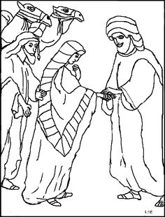 BIBLE COLORING PAGES. Isaac And Rebekah | Kid Crafts ...