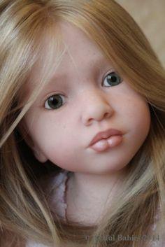 ABSOLUTELY STUNNING REBORN ALOENKA ~ CHILD DOLL ~ HUMAN HAIR ~ ARTFUL BABIES ~ | eBay