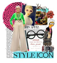 """Style Icon: Iris Apfel"" by synkopika ❤ liked on Polyvore featuring Iradj Moini"
