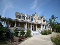 Space, Seclusion, Serenity, and one amazing golf course! This soundfront home is nestled amidst the natural beauty of the Outer Banks on the 18th fairway of The Currituck Club. Here you can relax with glorious views of peaceful open space from the front porch or enjoy the lovely sunsets from the back patio, hot tub, pool and 'tiki' bar. You can walk to the new Clubhouse or fitness center & enjoy all the community amenities. Play a round of golf or splash your cares away in your own private…