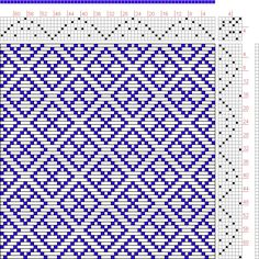 Hand Weaving Draft: Page 128, Figure 19, Donat, Franz Large Book of Textile Patterns, 7S, 7T - Handweaving.net Hand Weaving and Draft Archive
