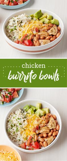 Chicken Burrito Bowls – Skip the takeout and create your very own Chicken Burrito Bowls at home with KRAFT Zesty Lime Vinaigrette Dressing! Enjoy the flavors of your favorite Mexican dish without the mess. Plus, did we mention that this recipe is ready for your dinner table in 40 minutes?