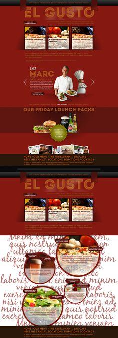 Concept / Web Design for a restaurant in Australia. From http://www.marinyordanov.com/