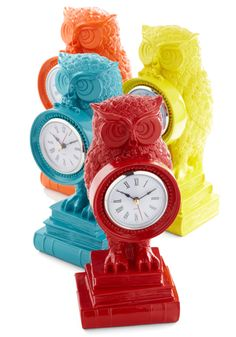 Owl Retro Clock Pinned by www.myowlbarn.com