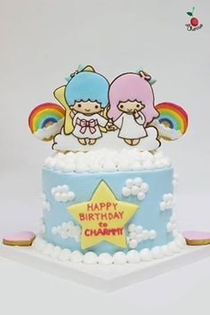 Little Twin Stars Birthday Cake