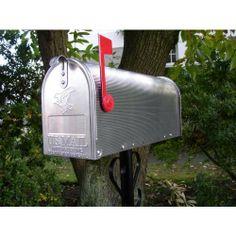 amerikaanse brievenbus  Gastenboek idee. Laat je gasten een kaartje schrijven en in deze brievenbus stoppen. Eventueel kan de ceremoniemeester ze later op de post doen en als je van je huwelijksreis komt heb je wat te lezen!