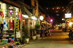 Bophut Walking Street, Koh Samui in Thailand