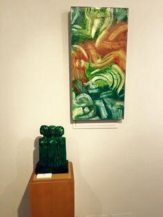 Obras en la Sala de Arte Nov,escultura,pintura,grabados,cerámica.