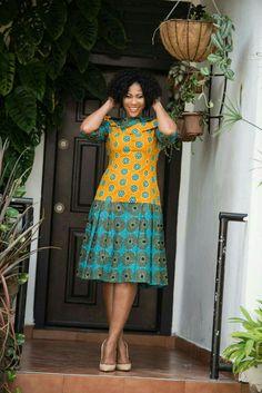 Latest Ankara Dress Styles - Loud In Naija African Dresses For Women, African Print Dresses, African Print Fashion, African Attire, African Wear, African Fashion Dresses, African Women, African Traditional Dresses, Ankara Dress