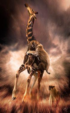 Artwork — The Wild Art of Velizar Simeonovski Prehistoric Wildlife, Prehistoric World, Prehistoric Creatures, Wildlife Art, Extinct Animals, Fauna, Lord, Pet Birds, Mammals