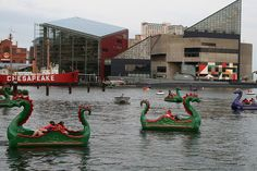 I remember doing this at night when I was little. Scary. Baltimore, MD Inner Harbor