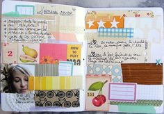 art journal pages.