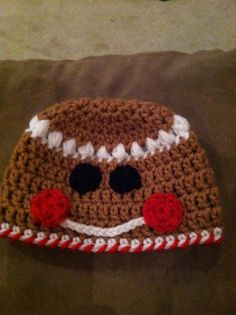 Gingerbread boy or girl hat by Grammyshatsandmore on Etsy, $25.00