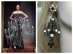 1474 Chandelier Crystal Baroque Earrings Studs