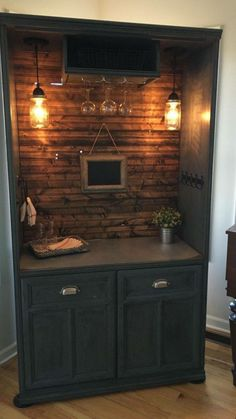 Great way to repurpose an armoire