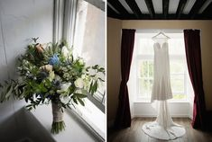 Ciara's dress and bouquet ready for the day ahead. A real wedding by Couple Photography Wedding Ceremony, Wedding Day, Up For The Challenge, Banquet Tables, Magical Wedding, Sunset Photos, Big Houses, Down Hairstyles