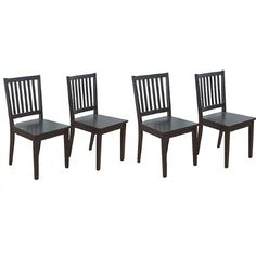 #charity Blend in your own personal touch while adding comfort by tying a soft cushion to each chair's seat surface. Tall backrests and a fair 18-inch seat heig...