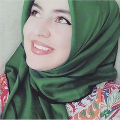 Beautiful Lady in Green Scarf