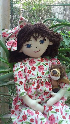 Playful Handmade RagDoll with Removable by RagdollsAndWoollies