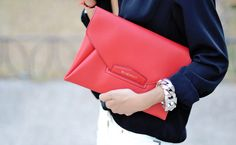 Use an envelope clutch to keep all of your documents organized