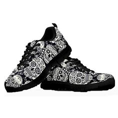 ca7882d8 Coloranimal Lightweight Go Easy Walking Sneakers Sugar Skulls Lace up  Jogging Flats: Amazon.co.uk: Shoes & Bags