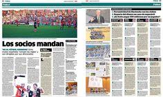 """Marca publica hoy un reportaje a doble página sobre los equipos en los que """"LOS SOCIOS MANDA"""". El Xerez Deportivo FC aparece como el equipo con mayor masa social."""