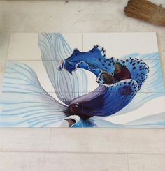hand painted tile designs for interior decorating and unique gifts