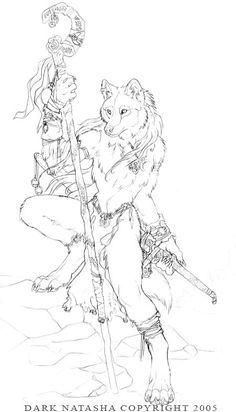 The Art of Dark Natasha - Wolf Tracker