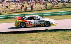 Scott Pruett in the Roush Mercury Merkur GTO at the 1988 Miller Migh Life 500 at Road America. Sports Car Racing, Road Racing, Auto Racing, Mustang Cobra, Ford Mustang, Scott Pruett, Nascar Season, Car Pictures, Car Pics