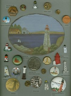 Delightful lighthouse buttons