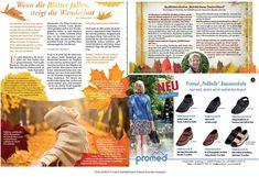 Fall design for magazine