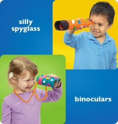 Fun for the outdoors! Free silly spyglass and binoculars lesson plan and directions to make these cute items! From Lakeshore Learning via Sunrise Learning Lab Summer Activities For Kids, Lessons For Kids, Vbs Crafts, Crafts For Kids, Bible School Crafts, Lakeshore Learning, Teachers Corner, Family Kids, Preschool