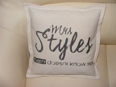 One direction pillow case hand made Harry Styles by Cymelium