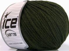 Limited Edition Fall-Winter Yarns Kışlık Yün Worsted Zincir Koyu yeşil  İçerik 50% Yün 50% Akrilik Brand Ice Yarns Dark Green fnt2-51476