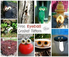 Free Eyeball Crochet Pattern- Family Fun